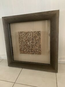 Modern bamboo picture in heavy wooden  frame