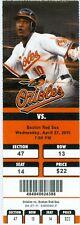 2011 Orioles vs Red Sox Ticket: Kevin Youkilis, Luke Scott & Adam Jones HRs