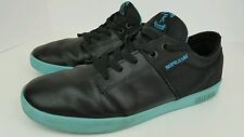 Supra Terry Kennedy Men's Sz 12 Black Blue Leather Textile Skater Boarding Shoes