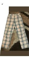 Burberry women pants nova check size 14 or M