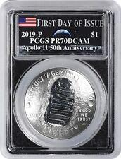 Half Dollar 2pc Set PCGS PR70 FS Apollo Label Bl 2019-S 50c Apollo 11 50th Ann