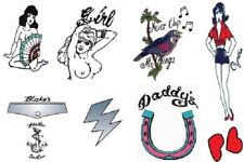 Deluxe Amy Winehouse Fancy Dress Tattoos Set of 9 Temporary Goth Costume