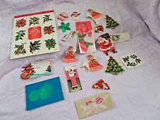 Vtg Christmas Stickers & Gift tags  Hallmark  Candy Canes Santa Angels