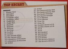UFO - Card #54 - Checklist - Unstoppable Cards Ltd 2016