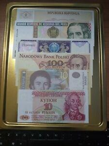 Lotto 6 banconote mondiali tutte F.D.S