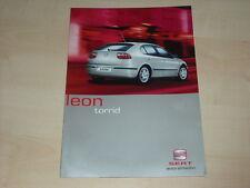 51485) Seat Leon torrid Prospekt 01/2002