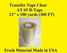 "Transfer Tape Clear 1 Roll 12"" x 300 ft Application Vinyl Signs R Tape"