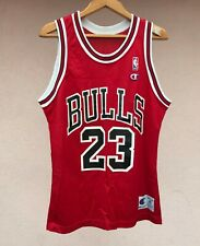 RARE CHICAGO BULLS BASKETBALL SHIRT JERSEY CAMISETA NBA USA JORDAN CHAMPION RED