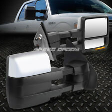 FOR 04-14 F150 PAIR POWERED+HEAT CHROME TOWING MIRROR+LED SIGNAL+PUDDLE LIGHT