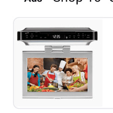 10 inch ilive Under-Cabinet Dvd-Cd Bluetooth Player with Fm Radio tv Aa batterie