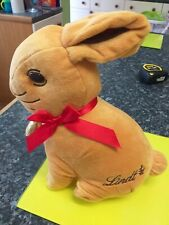 """12"""" Lindt Bunny Soft Toy Plush With Zip Compartment"""
