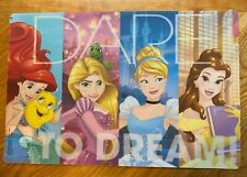 DISNEY PRINCESS' Table Placemats LOT Of 2 BPA FREE DARE TO DREAM NEW