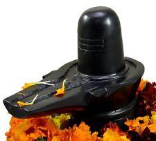 Krishna Mart 5 Inch Black Marble Shiva Lingam Shivling