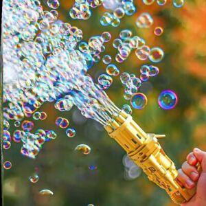 BUY 2 GET 1 FREE! - Bubble Machine Bubbler Maker Automatic Bubble Toy Gun - Gold