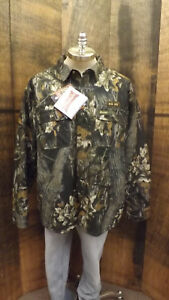 NOS GameHide Quilted Jac-Shirt Mossy Oak Break-up Camo Waterproof Hush Hide sz M