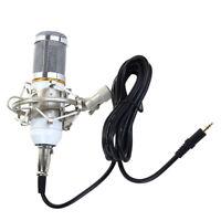 Condenser Studio Microphone Mic with Anti-wind Foam Cap & Shock Mount White