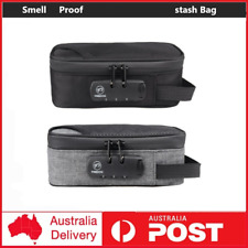 Smell Proof Carbon Lined Carry stash Bag with Lock Discreet Secure C OH