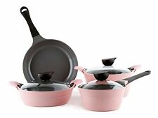 Neoflam Eela Cast Aluminum 7 Piece Set, Pink, New, Free Shipping