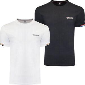 Lambretta Mens Tipped Pique Casual Cotton Crew Neck Short Sleeve T-Shirt Top Tee