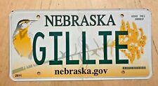 "GRAPHIC BIRD VANITY AUTO  LICENSE PLATE "" GILLIE ""  GIL GILLY  MICKEY"