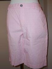 LAUREN RALPH LAUREN Pink Gingham Bermuda Walking Shorts Size 4