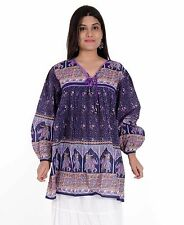 new collection cotton blue elephant maya blouse & tunics 28inch long tops