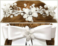 White Flower Girl Wreath First Communion Floral Headpiece Wedding Halo Crown