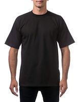 Pro Club Men's Heavyweight Cotton Short Sleeve Crew Neck T-Shirt - Black