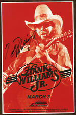 Hank Wiliams Jr. autographed gig poster Dixie On My Mind, Family Tradition