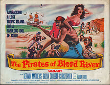 THE PIRATES OF BLOOD RIVER orig 1962 movie poster CHRISTOPHER LEE/KERWIN MATHEWS