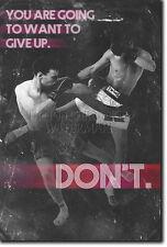 MUAY THAI MOTIVATIONAL PHOTO PRINT 03 MOTIVATION QUOTE POSTER MMA MARTIAL ARTS