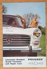 Peugeot 404 Berline - Prospekt Brochure Modelljahr 1968 (deutsch)