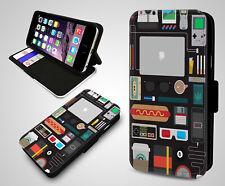 Digital Nomad Traveler Gadget Lover Gameboy Flip Wallet Leather Phone Case Cover
