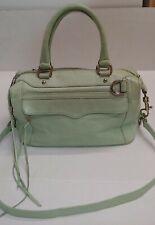 REBECCA MINKOFF leather large shoulder bag crossbody purse in Mint EUC