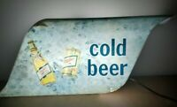"MILLER HIGH LIFE ""COLD BEER"" 1978 VINTAGE SIGN"