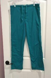 LANDAU REVERSIBLE SCRUB PANTS - SIZE EXTRA SMALL - BLUE/GREEN - DRAWSTRING WAIST
