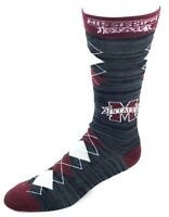 Mississippi State Bulldogs NCAA Black RMC Maroon Gray Fan Nation Crew Socks