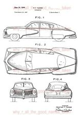 U.S. Patent : 1948 Preston TUCKER TORPEDO Automobile Car - A4 Printed Repro Art