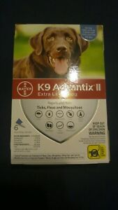 K9 Advantix II Flea Treatment Extra Large Dog 6 Month Supply Pack over 55 lbs