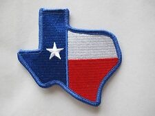 "3 7/8"" Texas State Map, Texas Flag Embroidery Iron On Applique Patch"