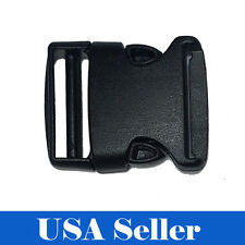 10X 2 Inch Plastic Black Strap Webbing Side Release Buckle Clasp Craft 5 cm 2""