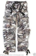 Vintage-bequem sitzende Herrenhosen mit Camouflage-Muster