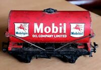 Vintage Hornby Dublo OO Gauge Mobil Oil Wagon Red Good Condition