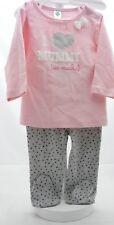 Tex ensemble haut manche longue rose et pantalon gris bébé fille 9 mois