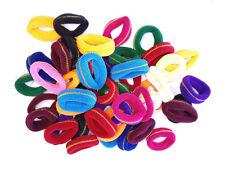 Pack 50 gomas del pelo multicolores raya dorada trenzas accesorio peinados