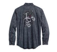 Genuina Harley-Davidson Serpiente Cráneo camisa de mangas largas