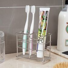Stainless Steel Toothbrush Holder Toothpaste Razor Stand Rack Bathroom Organizer