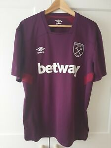 West Ham Shirt WHU Umbro Training Top XXL West Ham United Football Shirt