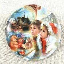 Französisch Porzellan Weihnachten Platte Jean Claude Guidou Winter Noel Urlaub