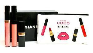 CHANEL Rouge Coco Set of 3 Full Sz Lip Gloss/Stick PINK LIMITED EDITION NEW wBOX